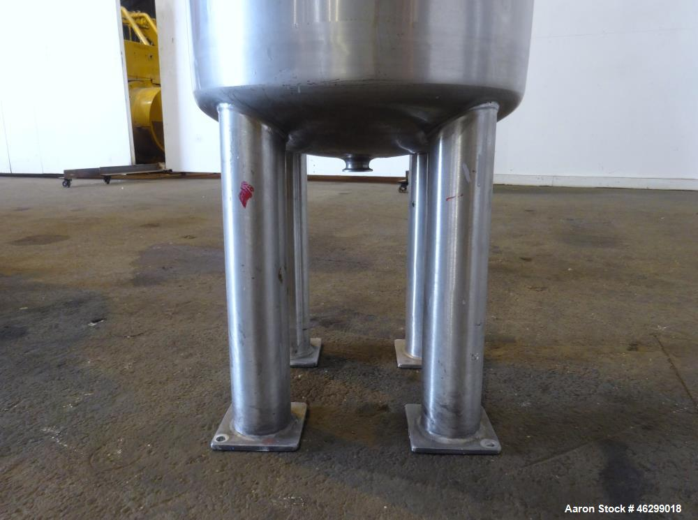 "Used- Tank, Approximately 40 Gallons, 304 Stainless Steel, Vertical. 20"" Diameter x 30"" straight side. Bolt-on flat top with..."