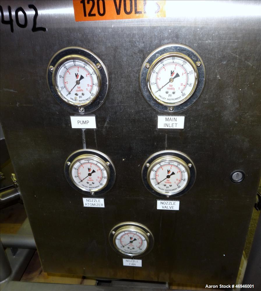 Used- Marchant Schmidt Mixing Tank, Approximate 30 Gallons, 304 Stainless Steel,
