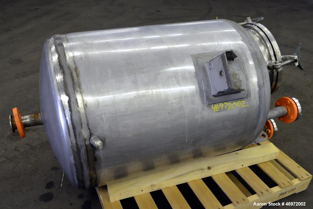 Used- Letsch Precision Stainless Tank, 100 Gallons, 316 Stainless Steel, Vertica