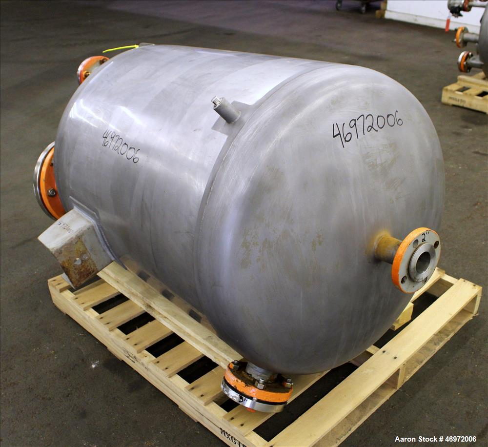 "Used- Precision Stainless Tank, 100 Gallons, 316 Stainless Steel, Vertical. Approximate 32"" diameter x 35"" straight side, di..."