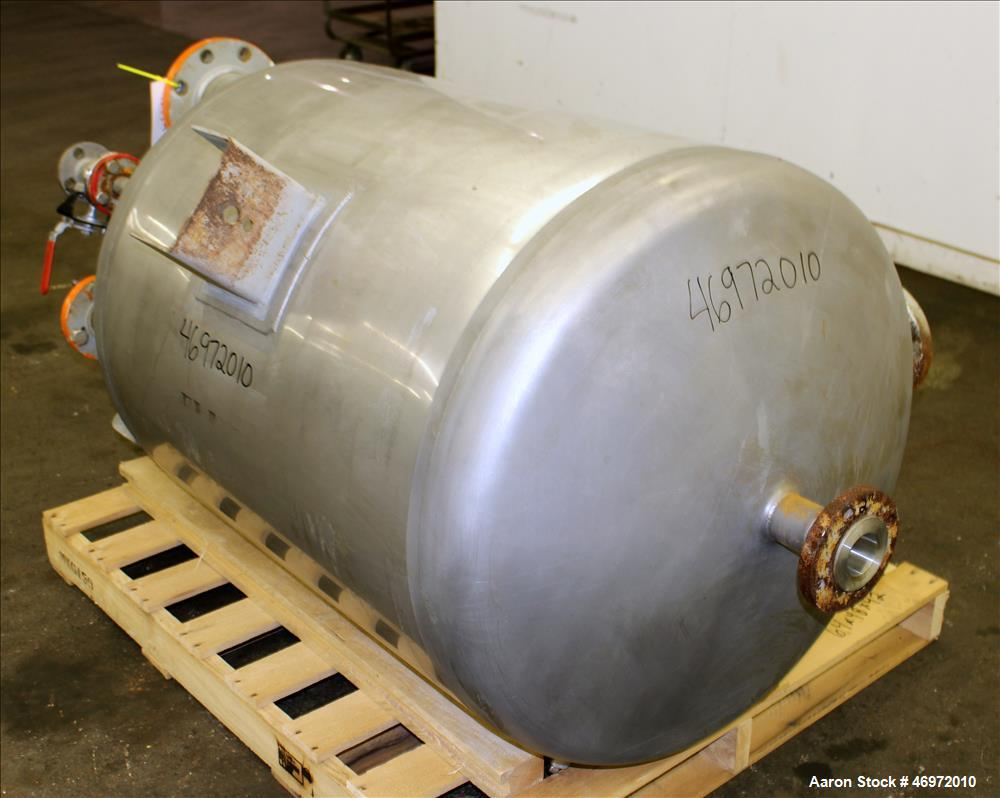 Used- Precision Stainless Tank, 100 Gallons, 316 Stainless Steel, Vertical
