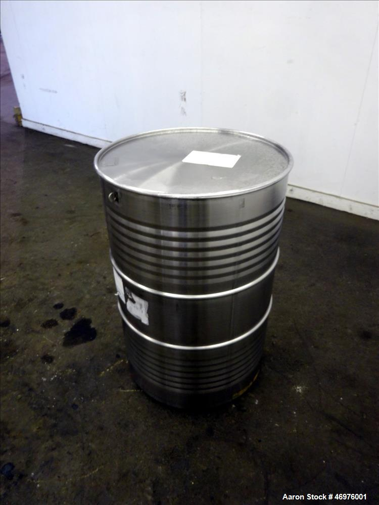 "Unused- MO Drum, 200 Liters (52.8 Gallons), 304 Stainless Steel, Vertical. Approximate 22"" diameter x 33"" straight side. Fla..."