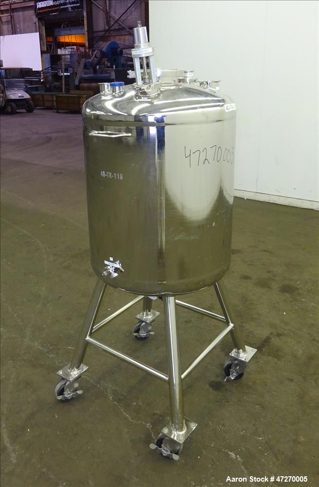 Used- Alloy Products Pressure Tank, Approximate 40 Gallons, 316L Stainless Steel