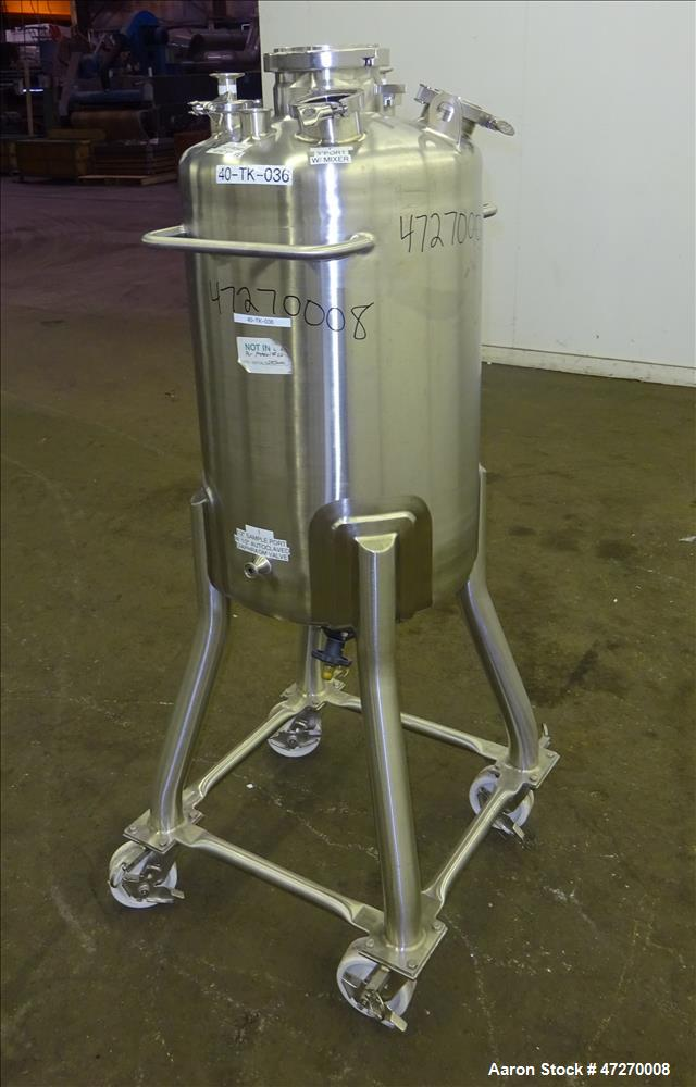 Used- Stainless Steel Technology Pressure Tank, Approximate 26.4 Gallon (100 Lit