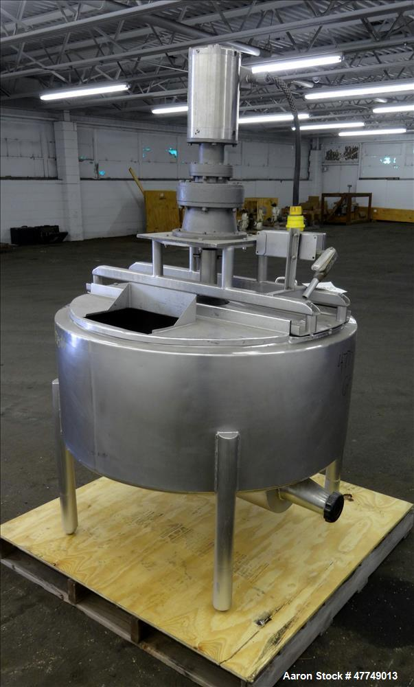 Used- Damrow Surge Tank, Approximate 80 Gallon, 316 Stainless Steel, Vertical.