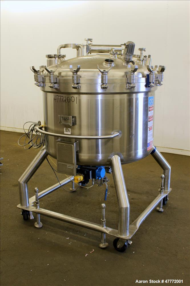 Used- DCI Pressure Tank, 600 Liter (158.5 Gallon), 316L Stainless Steel, Vertica
