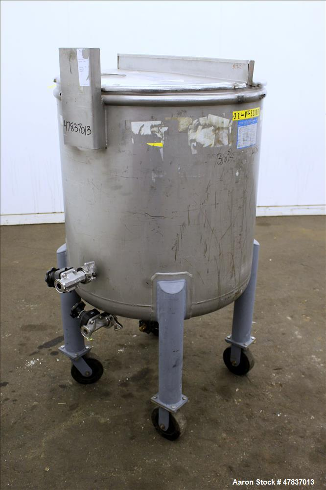 "Used- Mueller Tank, 378 Liter (99.8 Gallon), Model F, 316 Stainless Steel, Vertical. 30"" Diameter x 29"" straight side, open ..."