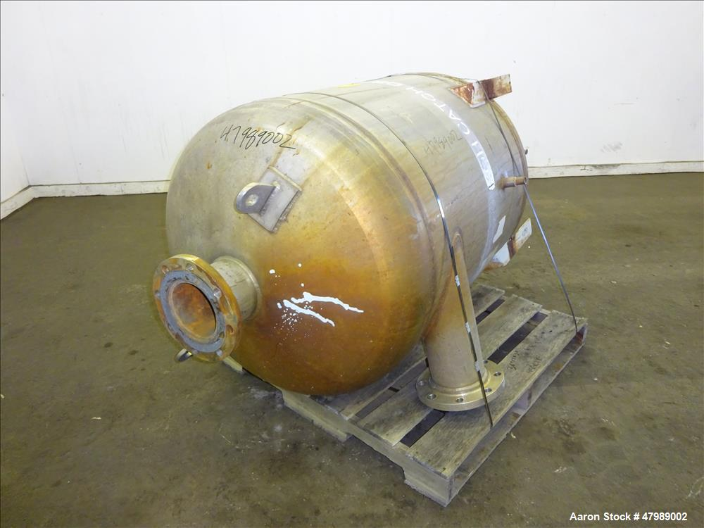 Used- Fluor Daniel Pressure Tank, Approximate 125 Gallon, 304L Stainless Steel,