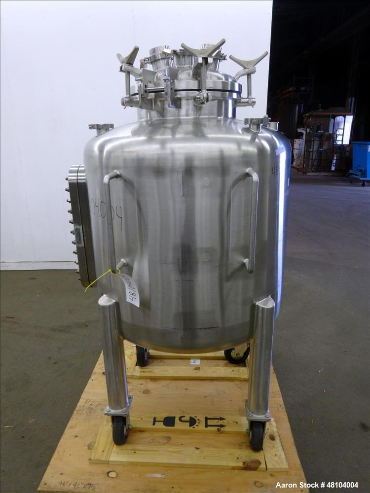 Used- Precision Stainless Pressure Tank, 400 Liter (105.6 Gallon), 316L Stainles