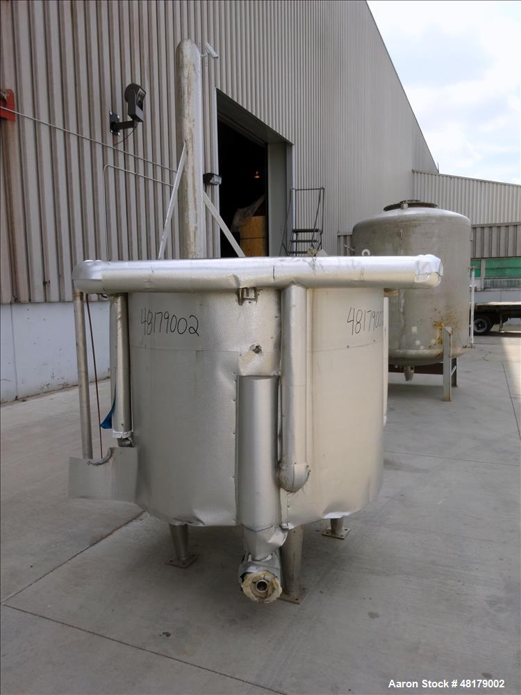 Used- Tank, Approximate 450 Gallon, 316 Stainless Steel, Vertical.
