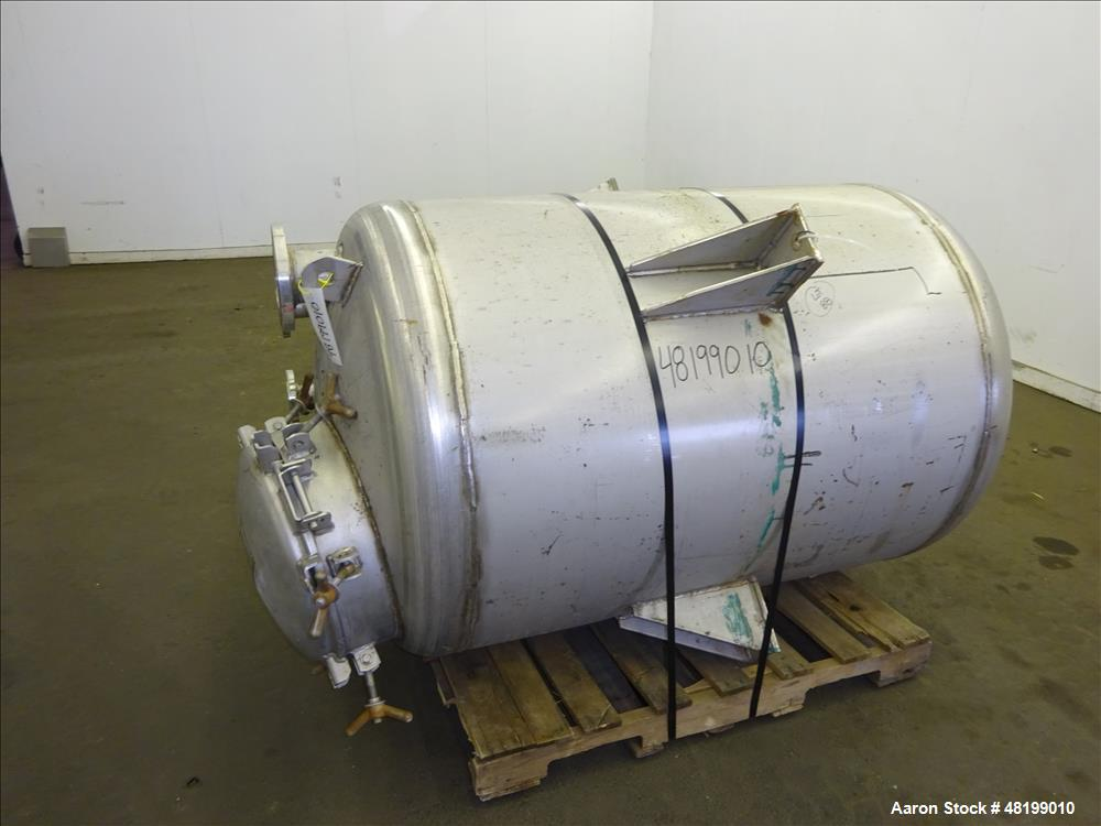 Used- Lowe-Mar Tank, Approximately 350 Gallon, 304 Stainless Steel, Vertical.