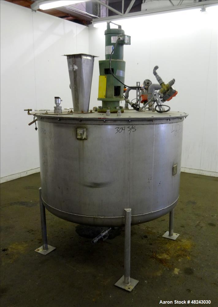 Used- Tri-Canada Mix Tank, 300 Gallon, Model Paint Tank, 304 Stainless Steel, Ve