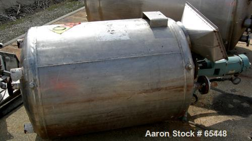 "USED:Industrial Alloy Fabricators tank, 200 gallon, 316L stainless steel. 36"" dia x 41"" st side, dished heads, internal 14.5..."