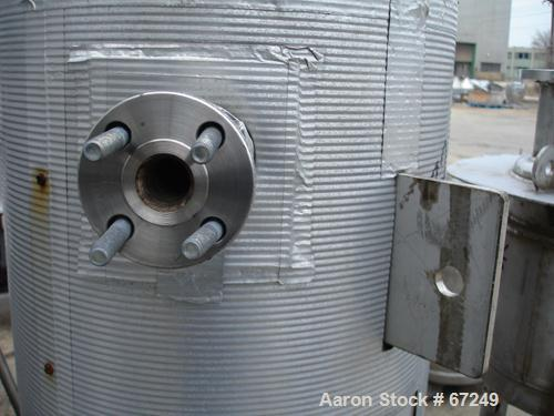 "Used- Pemberton Fabricators Pressure Tank, 20 Gallon, 304 Stainless Steel, Vertical. 16"" Diameter x 23"" straight side, dishe..."