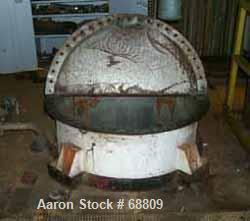 "Used- Stainless steel tank, 350 gallon, 42"" diameter x 55"" straight side. Flat open top with cover, dish bottom, lug mounted."