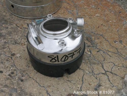 "USED: Alloy Products pressure tank, 1 gallon, 316 stainless steel, vertical. 9"" diameter x 3"" straight side. Dished top and ..."