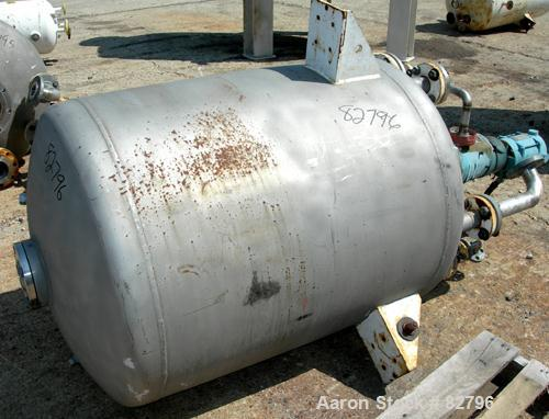 "USED: Iron and Steel Contracting Co pressure tank, 190 gallon, 316 stainless steel, vertical. 36"" diameter x 40"" straight si..."