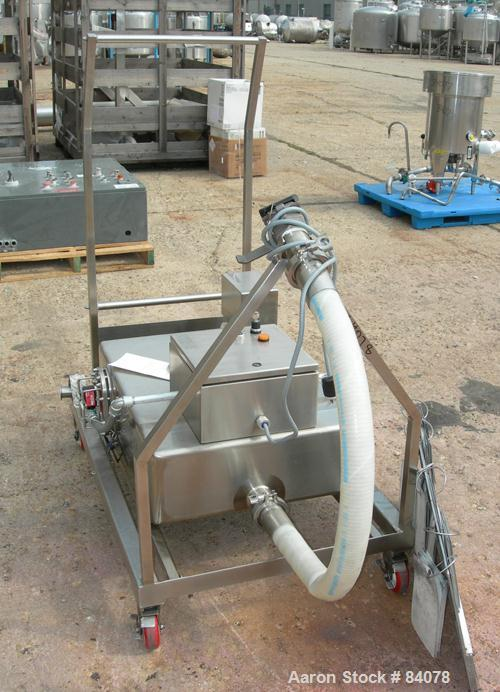 Used- 25 Gallon Stainless Steel Walker Stainless Waste Liquid Tank