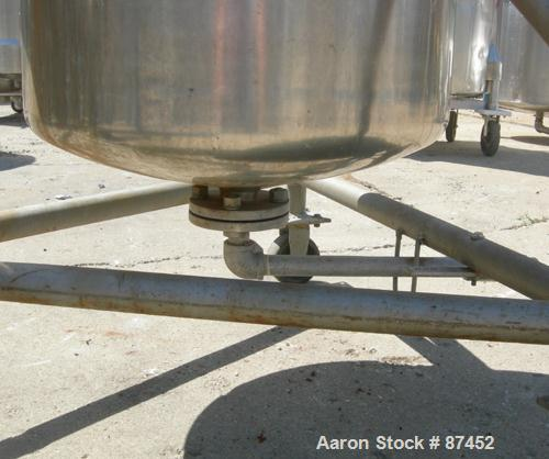 "Used- Groen Pressure Tank, 60 Gallon, 316 Stainless Steel, Vertical. 24"" Diameter x 34"" straight side, dish top and bottom. ..."