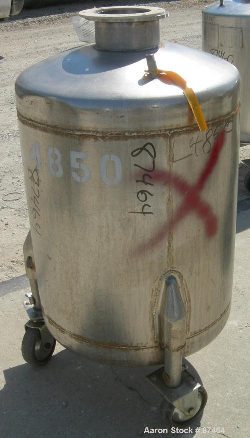 Used- 60 Gallon Stainless Steel Will Flow Pressure Tank