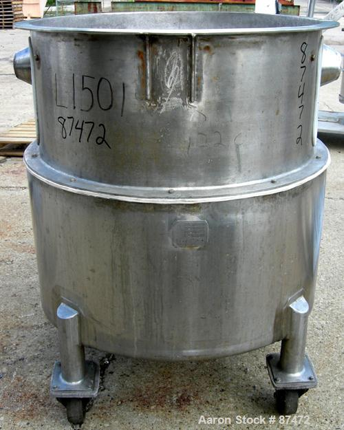 Used- 100 Gallon Stainless Steel Walker Stainless Tank
