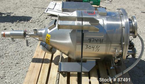 "USED: Lee tank, 40 gallon, 304 stainless steel, vertical. 24"" diameter x 20"" straight side x 20"" cone. Dish bolt on top. Off..."