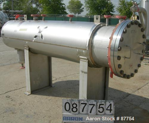 "Unused- Mueller Pressure Tank, 250 gallon, 304/304L stainless steel, horizontal. 24"" diameter x 124"" straight side. (1) End ..."