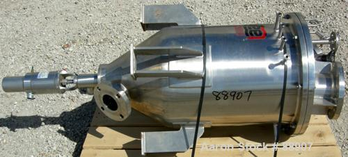 "USED: Lee tank, 25 gallon, 304 stainless steel, vertical. 18"" diameter x 22"" straight side x 12"" cone. Dish bolt on top. Off..."