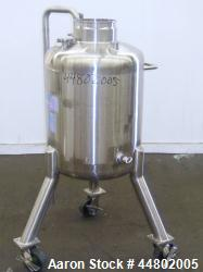 Used- 100 Liter Stainless Steel Precision Stainless Pressure Tank