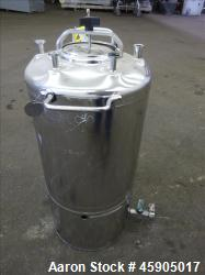 "Alloy Products Pressure Tank, 6 Gallon, 316L Stainless Steel, Vertical. Approximate 12"" diameter x ..."