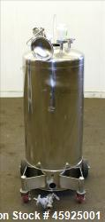 "Alloy Products Pressure Tank, Approximately 30 Gallon, 316 Stainless Steel, Vertical. 18"" Diameter ..."