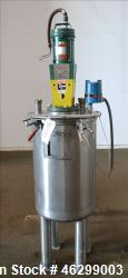 """Tank, Approximately 40 Gallons, 304 Stainless Steel, Vertical. 20"""" Diameter x 30"""" straight side. Bo..."""