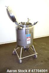 "DCI Pressure Tank, 50 Gallon, 316L Stainless Steel, Vertical. 23.78"" Diameter x 24"" straight side, ..."