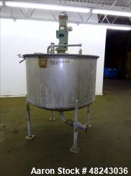 "Used- Tri-Canada Mix Tank, 300 Gallon, Model Paint Tank, 304 Stainless Steel, Vertical. Approximate 54"" diameter x 30"" strai..."