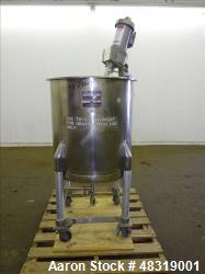 Used- Perma-San Mix Tank, Model 60 Gallon OVS, 60 Gallon, 316 Stainless Steel, V