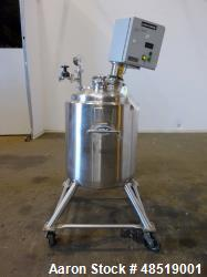 Used: T & C Pressure Vessel/Tank, 39 Gallon (150 liter), 316 Stainless steel, Ve