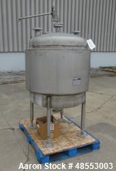 Used- Paul Mueller Pressure Tank, 100 Gallon, 304 Stainless Steel, Vertical.