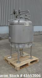 Used- Paul Mueller Tank, 100 Gallon, 304 Stainless Steel, Vertical.