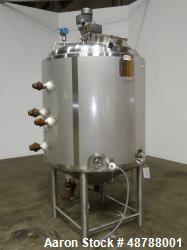 Used- Walker Stainless Jacketed Tank, Model PZ-CB-PV, Approximately 350 Gallon,