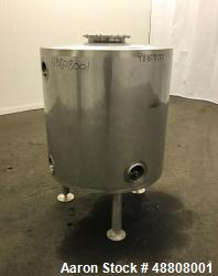 Used- Tank, Approximate 100 Gallon, 304 Stainless Steel, Vertical.