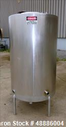 Used- Tank, Approximate 300 Gallon, 304 Stainless Steel, Vertical.