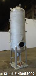 Used- Four Corp Pressure Tank, Approximately 375 Gallon, 304 Stainless Steel.