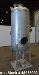 Used- Four Corp Pressure Tank, Approximately 275 Gallon, 304 Stainless Steel.
