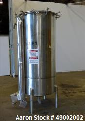 Used- Sani-Tanks Tank, Approximate 400 Gallon, 304 Stainless Steel, Vertical.