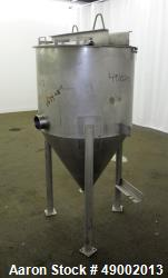 Used- Apache Stainless Equipment Tank, 60 Gallon, 304 Stainless Steel, Vertical.