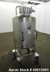 Used- Four Corp Pressure Tank, Approximately 100 Gallons, 316 Stainless Steel, V