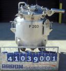 Used- Walker Stainless Pressure Tank, 52.8 gallon (200 liter), 316L stainless steel, vertical. 30'' diameter x 18'' straight...