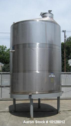 Used- 3000 Gallon Stainless Steel Mueller Vertical Partially Jacketed Tank
