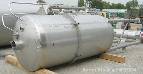 "Used- Walker Stainless Flash Cooler Pressure Tank, 1000 Gallon, Model FC-1, 316L Stainless Steel, Vertical. 54"" diameter x 1..."