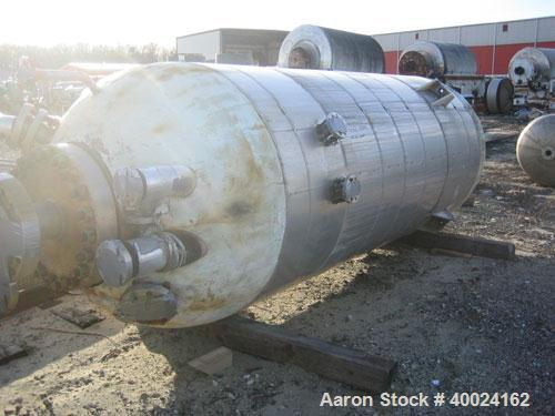 Used- 1500 Gallon Stainless Steel Patterson Pressure Vessel